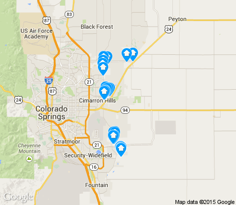 map of Falcon apartments for rent