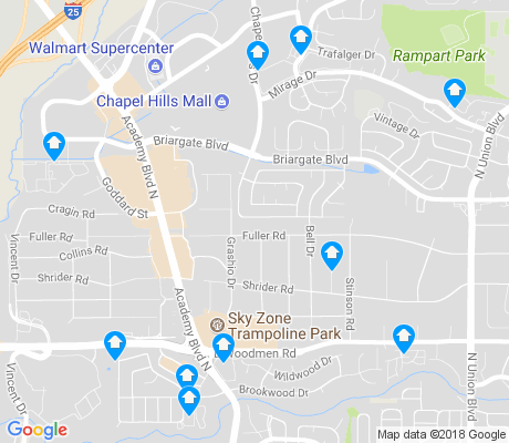 map of Falcon Estates apartments for rent