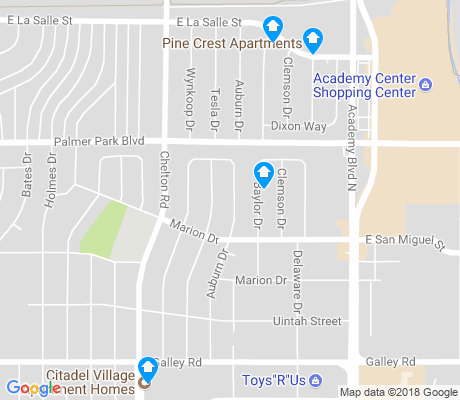 map of Knob Hill apartments for rent