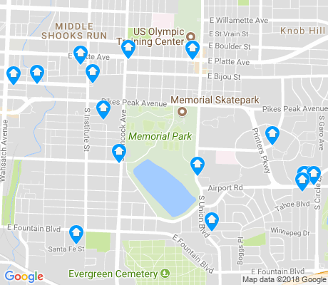 map of Memorial Park apartments for rent