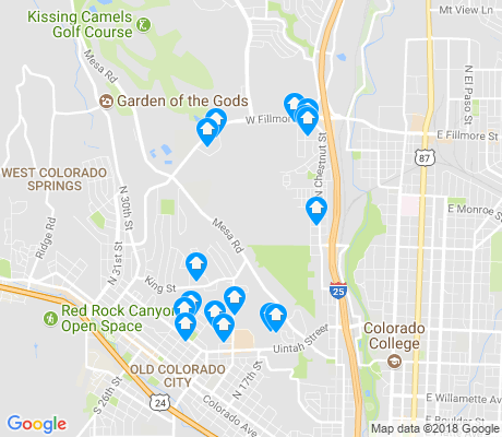 map of Mesa apartments for rent