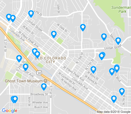 map of Old Colorado City apartments for rent