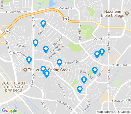 map of Pikes Peak Park apartments for rent