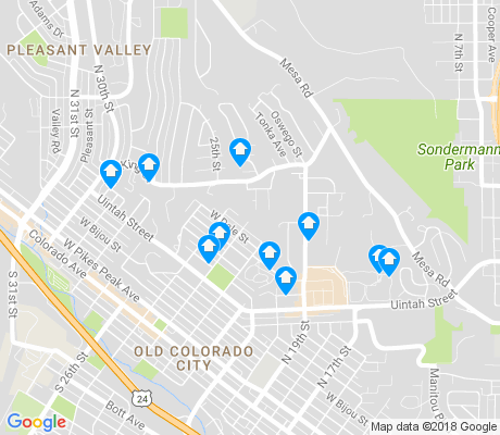 map of Pleasant Valley apartments for rent