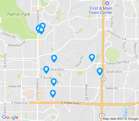 map of Rustic Hills apartments for rent