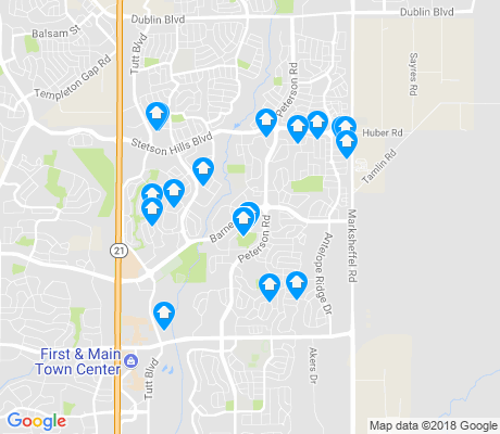 map of Stetson Hills apartments for rent