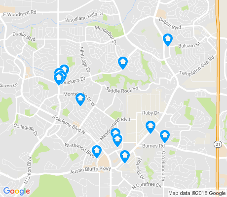 map of Vista Grande apartments for rent