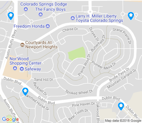 map of Wagon Trails apartments for rent