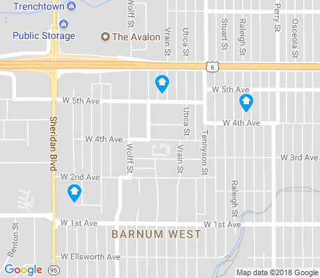 map of Barnum West apartments for rent