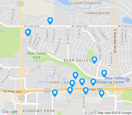 map of Bear Valley apartments for rent