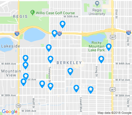 map of Berkeley apartments for rent