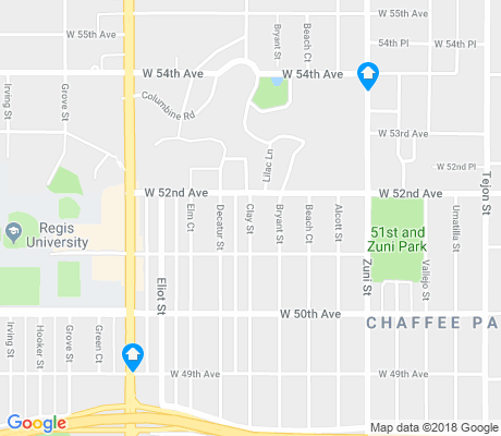 map of Chaffee Park apartments for rent
