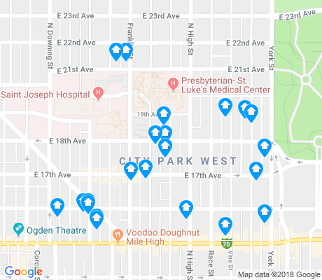 map of City Park West apartments for rent