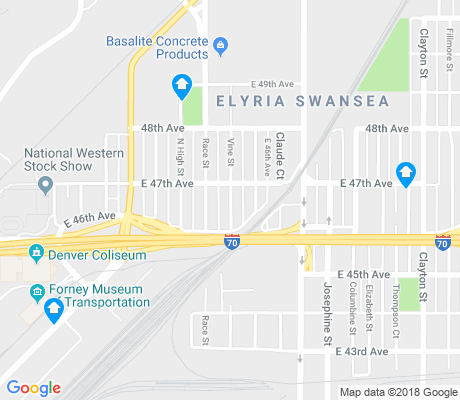 map of Elyria Swansea apartments for rent