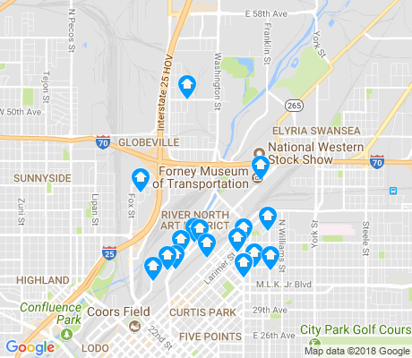 map of Globeville apartments for rent