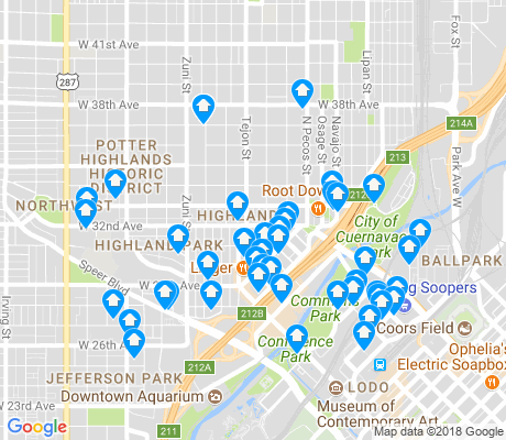 map of Highland apartments for rent