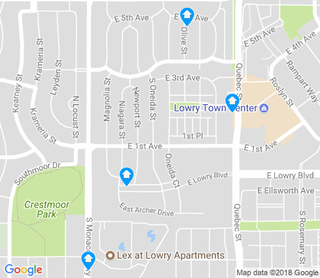 map of Hilltop apartments for rent