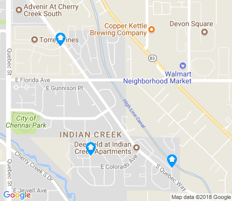map of Indian Creek apartments for rent