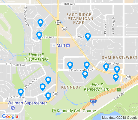 map of Kennedy apartments for rent