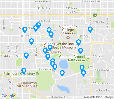 map of Lowry Field apartments for rent