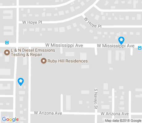 map of Ruby Hill apartments for rent