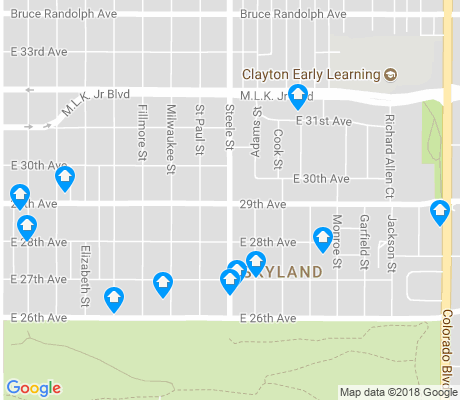 map of Skyland apartments for rent