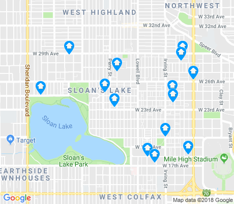 map of Sloan Lake apartments for rent