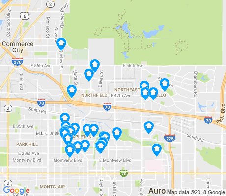 map of Stapleton apartments for rent
