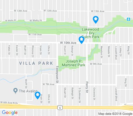 map of Villa Park apartments for rent