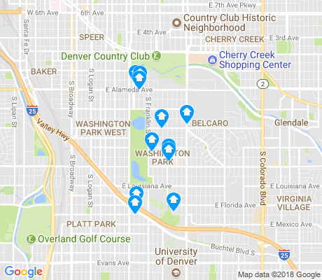 map of Washington Park apartments for rent