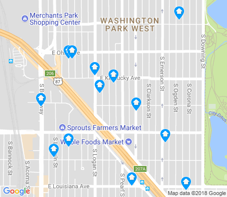 map of Washington Park West apartments for rent