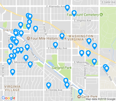 map of Washington Virginia Vale apartments for rent