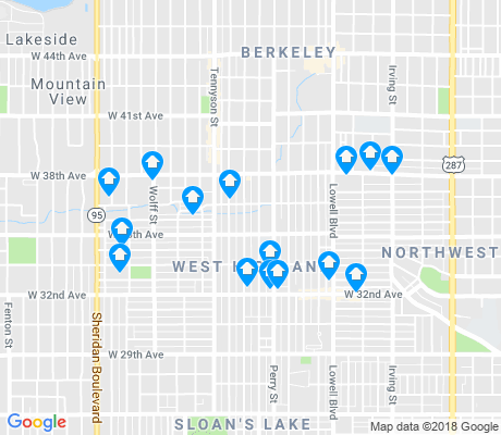 map of West Highland apartments for rent