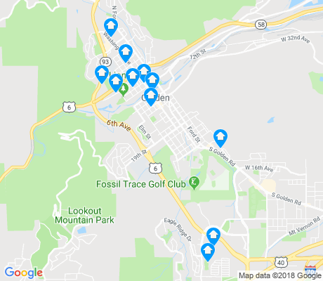 map of Golden apartments for rent