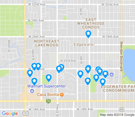 map of Edgewood apartments for rent