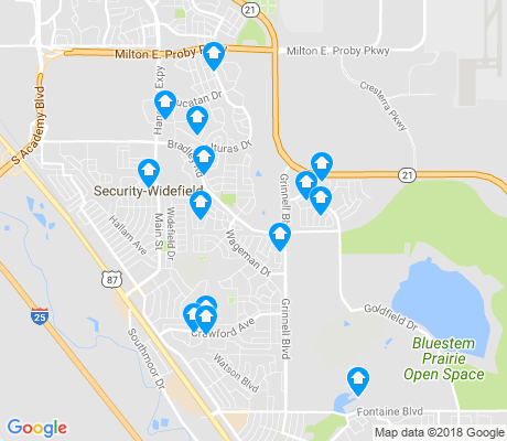 map of Security-Widefield apartments for rent