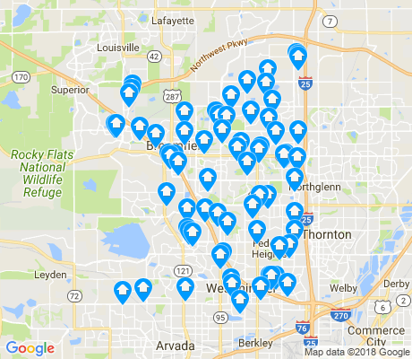map of Westminster apartments for rent
