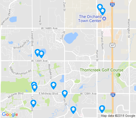 map of Northeast Westminster apartments for rent