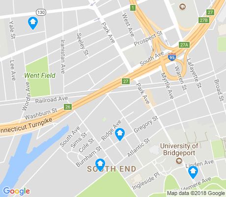 map of South End apartments for rent