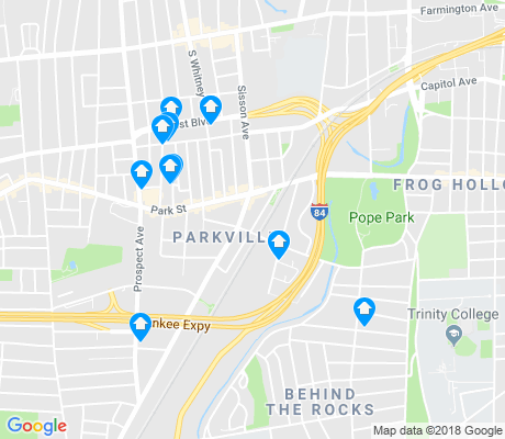 map of Parkville apartments for rent