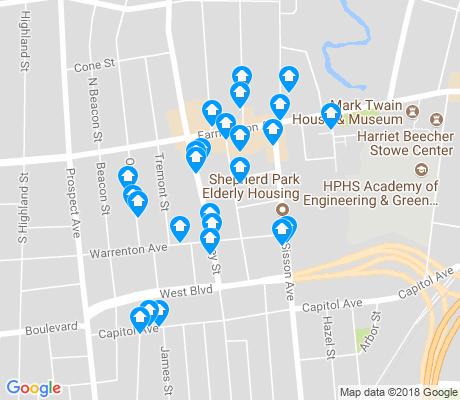 map of West End apartments for rent