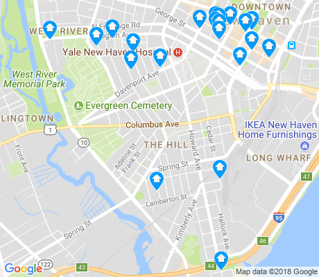 map of Hill apartments for rent