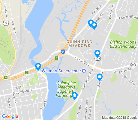 map of Quinnipiac Meadows apartments for rent