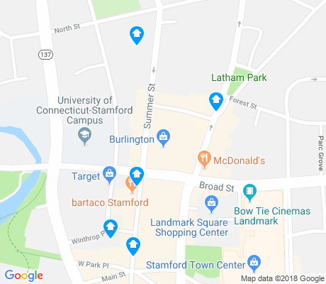 map of Downtown Historic District apartments for rent