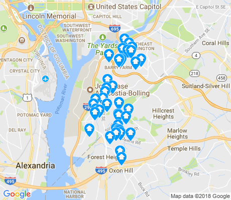 map of 20032 apartments for rent