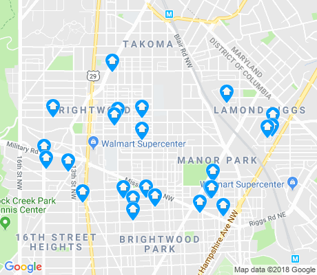 map of Brightwood - Manor Park apartments for rent