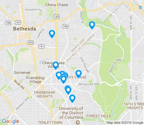 map of Chevy Chase-DC apartments for rent