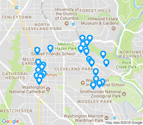 map of Cleveland Park apartments for rent