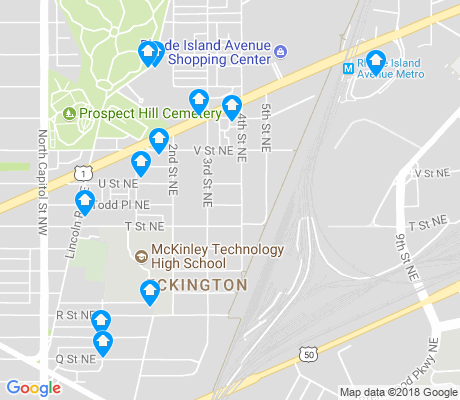 map of Eckington apartments for rent