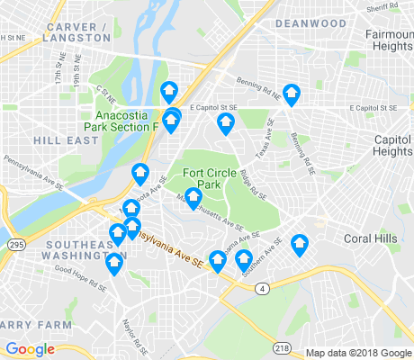 map of Fort Dupont apartments for rent